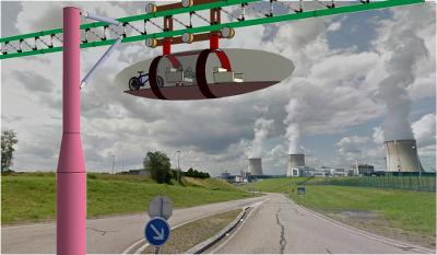 Monorail bi-tube transfrontalier